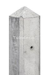 Betonpaal wit/grijs met diamantkop en vellingkant