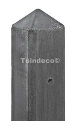 Slimline betonpaal wit/grijs met diamantkop en vellingkant