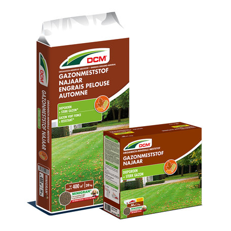 DCM Gazonmeststof Najaar 10kg + zak groenkalk gratis