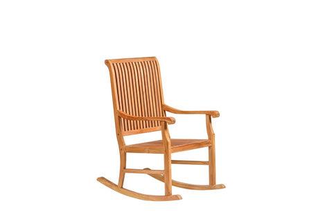 Hardhouten meubelen Teak schommelstoel