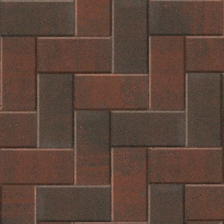 Betonstraatsteen 21x10,5x6cm Rood/Zwart