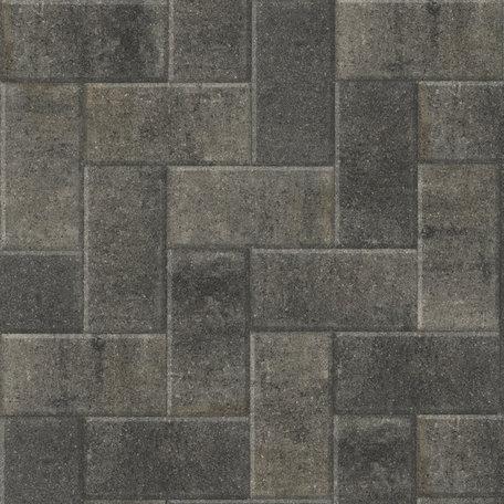 Betonstraatsteen 21x10,5x6cm Grijs/Zwart