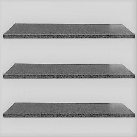 Vijverrand 100x15x3cm Black (6 zijdes verzoet, 8 facetranden)
