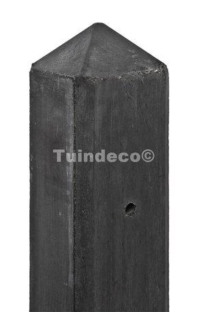 Betonpaal antraciet, diamantkop Hoekpaal 10x10x180cm glad