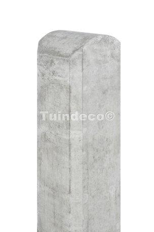 Betonpaal met halfronde kop en vellingkant wit/grijs 10x10x190cm