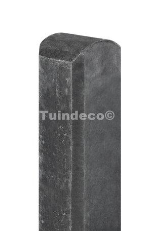 Betonpaal met halfronde kop en vellingkant antraciet 10x10x190cm