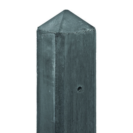 Betonpaal antraciet diamantkop Tussenpaal 8.5x8.5x190cm glad