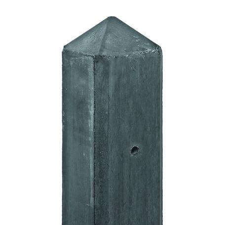 Betonpaal antraciet diamantkop Eindpaal 8.5x8.5x277cm glad