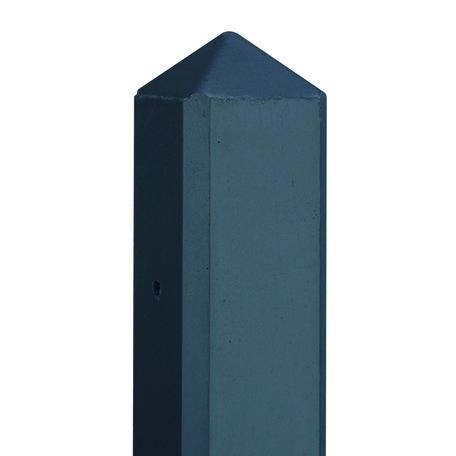 Betonpaal Gecoat diamantkop 10x10x280cm m/kabeldoorvoer, glad scherm 150cm