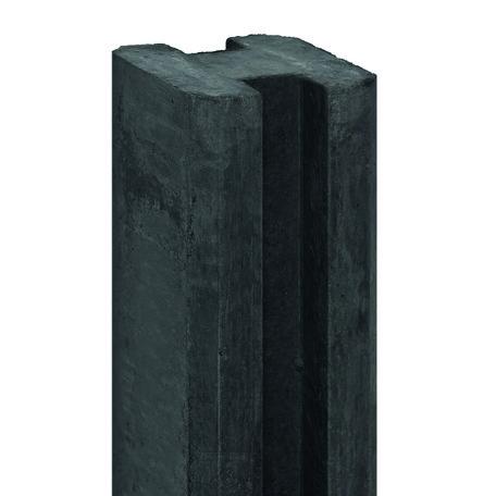 Betonpaal sluifpaal antraciet, 11.5x11.5x316cm Eindmodel