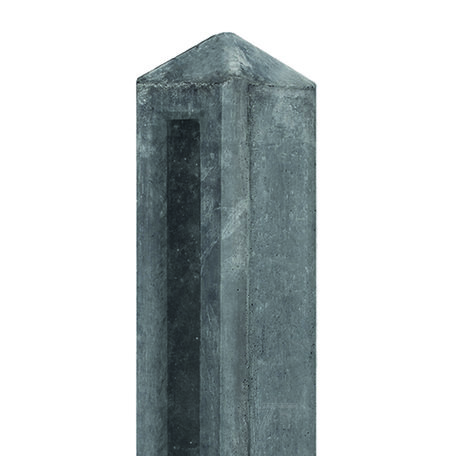 Tuinhek Betonpaal antraciet, 10x10x145cm Driesprong