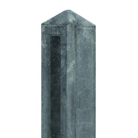 Tuinhek Betonpaal antraciet, 10x10x145cm Eindmodel