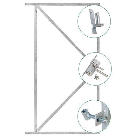 Complete deurframeset gegalvaniseerd H155xB110cm