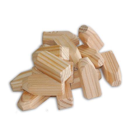 Houtpakket Lariks/ douglas houten pennen 1.6x1.6x4.5cm