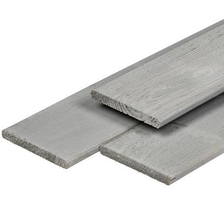 ME grenen plank zilvergrijs 1.6x14.0x400cm geschaafd