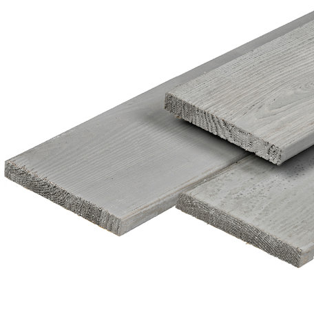 ME grenen tuinplank 2.0x20.0x400cm fijnbezaagd Silver Grey