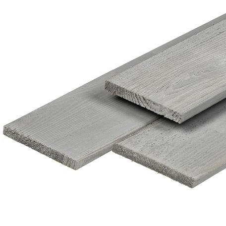 ME grenen tuinplank 1.7x14.5x400cm fijnbezaagd Silver Grey
