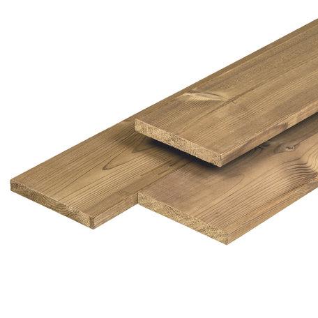 Steamed 5* Class wood tuinplank 1.8x14.0x450cm