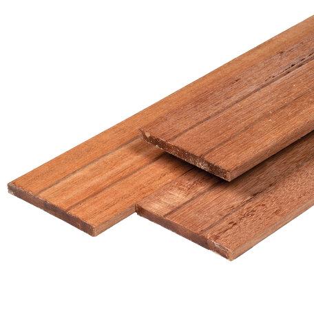 Hardhouten tuinplank 1.4x14.0x195cm glad 2xv