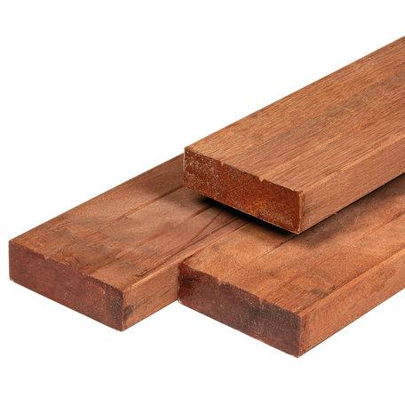 Hardhout geschaafd timmerhout 4.4x14.5x305cm