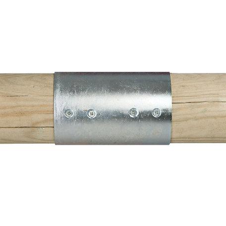 Gegalvaniseerde verbindingen voor ronde palen Ø10cm 2-weg