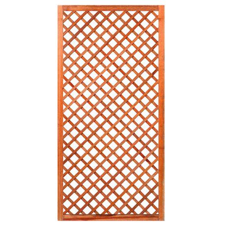 Trellis diagonaal met lijst hardhout 90cm