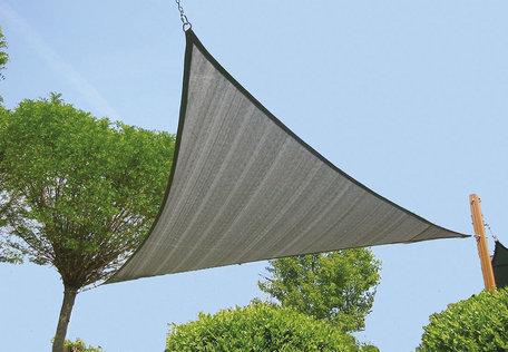 Zonnezeil driehoek zilvergrijs 420 cm