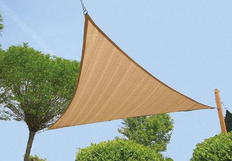 Zonnezeil driehoek zandbeige 420 cm