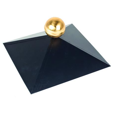 Afdekkap (zonder messing bol) vierkant dak