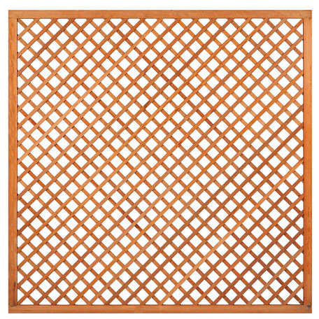 Trellis diagonaal met lijst hardhout 180cm