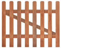 Tuinhekdeur recht hardhout 60 cm