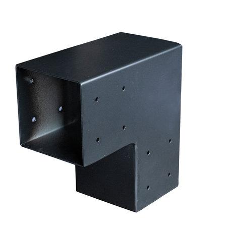 Paalverbinder 2-weg hoek hoek t.b.v 12cm paal