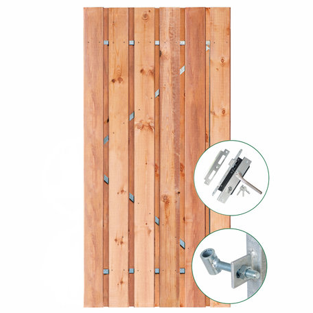 Tuindeur Privacy Red Class Wood 120cm
