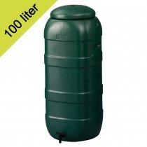 Regenton slimline groen H96xB36xD32cm 100 ltr