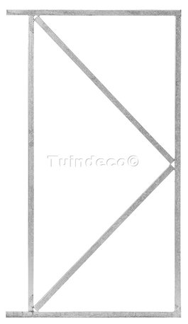 IJzeren deurframe gegalvaniseerd 110x155cm