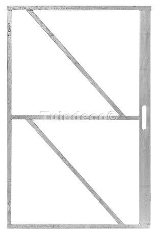 IJzeren deurframe gegalvaniseerd met slotkast 100x200cm
