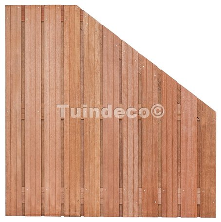 Tuinscherm Hoorn verloop H180-90xB180cm