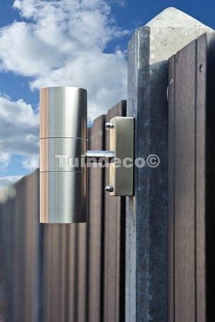 Betonpaal met kabeldoorvoer antraciet, diamantkop 10x10x280cm glad