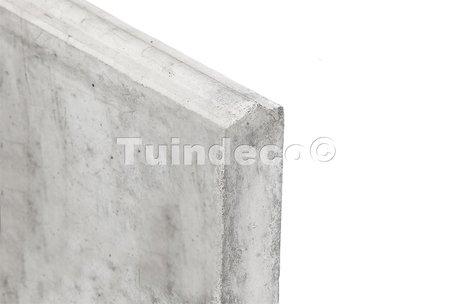 Betonplaat grijs H25xD3.5xL184cm onderplaat, glad