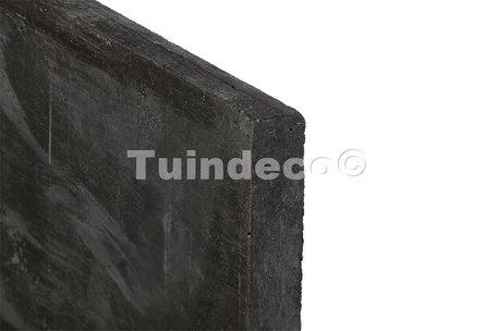 Betonplaat antraciet H25xD3.5xL184cm onderplaat, glad