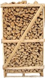 Essenhout gestapeld op een pallet met een inhoud van 2m³