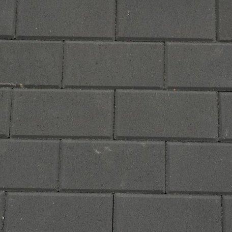 Halve Betonstraatsteen 10,5x10,5x8cm KOMO Zwart met deklaag