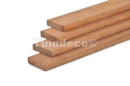 Hardhout geschaafd timmerhout 1.6x7.0x180cm