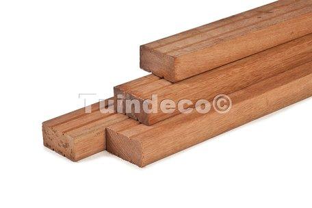 Hardhout geschaafd timmerhout 4.4x14.5x400cm