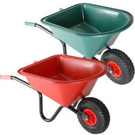 Kinderkruiwagen Groen - bak 60 x 44 x 25/15 cm