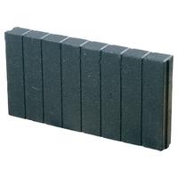 Mini Quadrobandpalissade 6x25x50cm Zwart