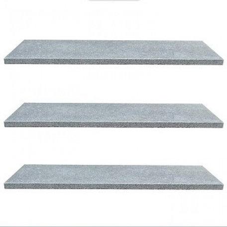 Vijverrand 100x25x3cm Dark Grey (6 zijdes verzoet, 8 facetranden)