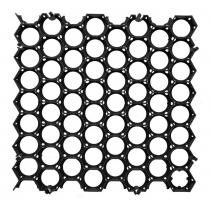 Gras/grindplaat 50x50x3,8cm zwart