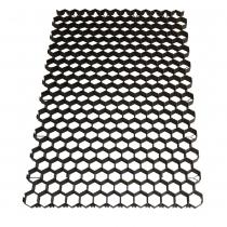 Gras/grindplaat 120x80x3,8cm zwart