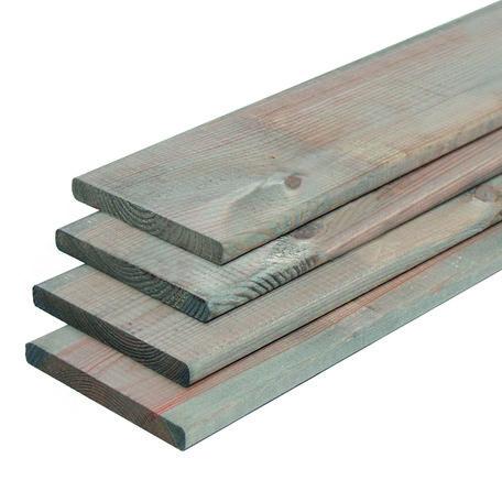 ME grenen plank zilvergrijs 1.6x14.0x180cm geschaafd